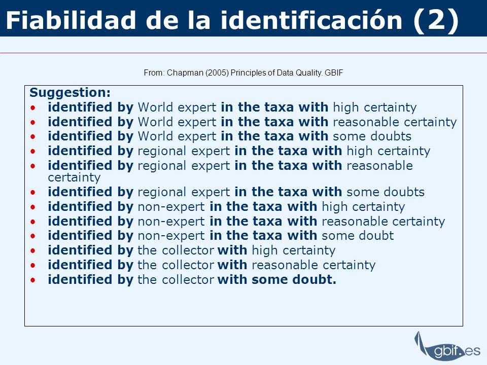 Fiabilidad de la identificación (2)