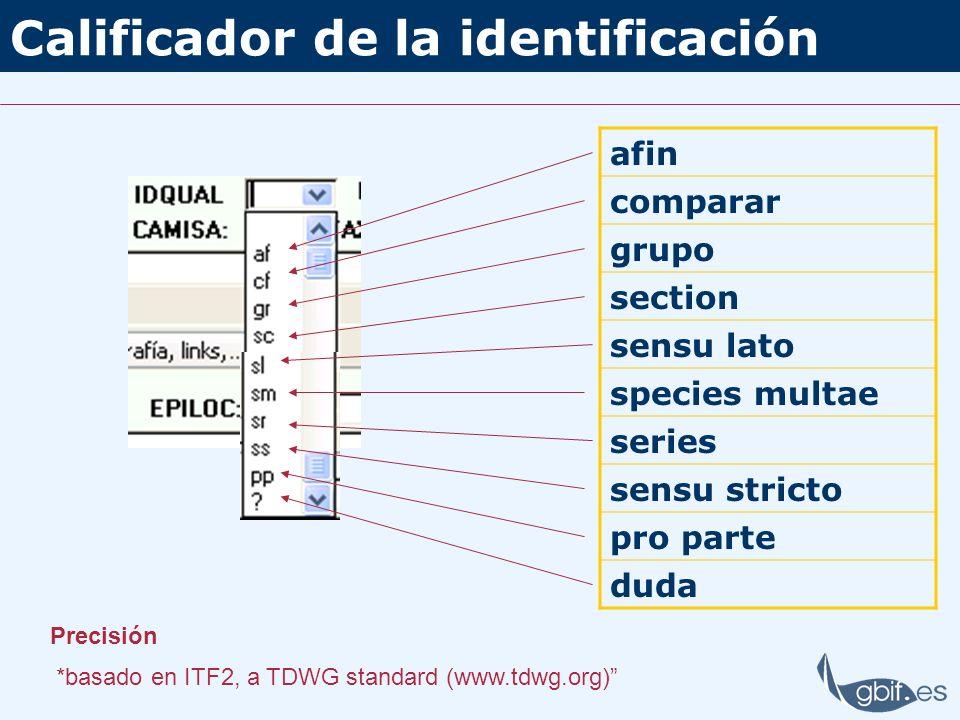 Calificador de la identificación