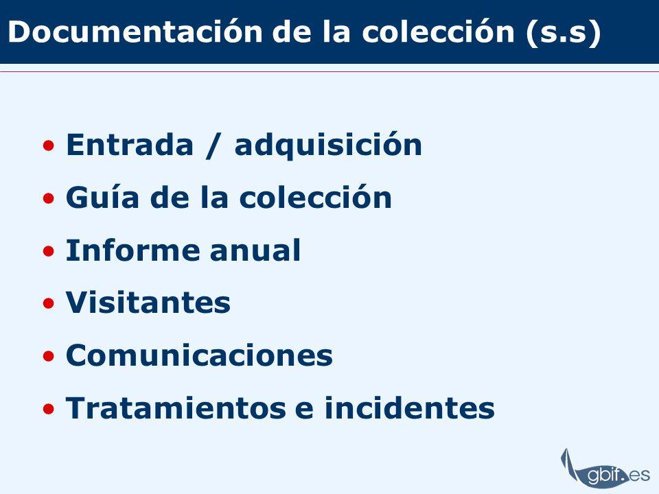 Documentación de la colección (s.s)