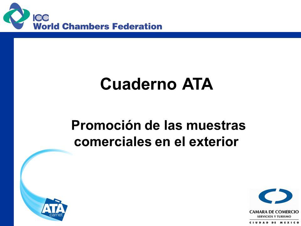Cuaderno ATA Promoción de las muestras comerciales en el exterior