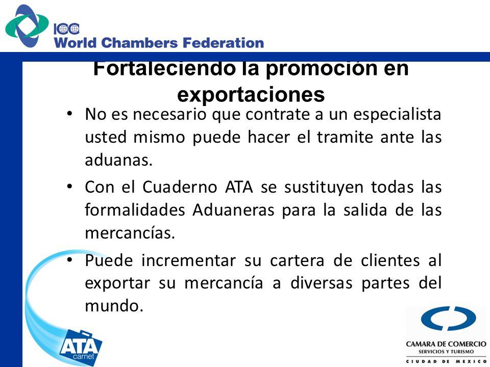 Fortaleciendo la promoción en exportaciones