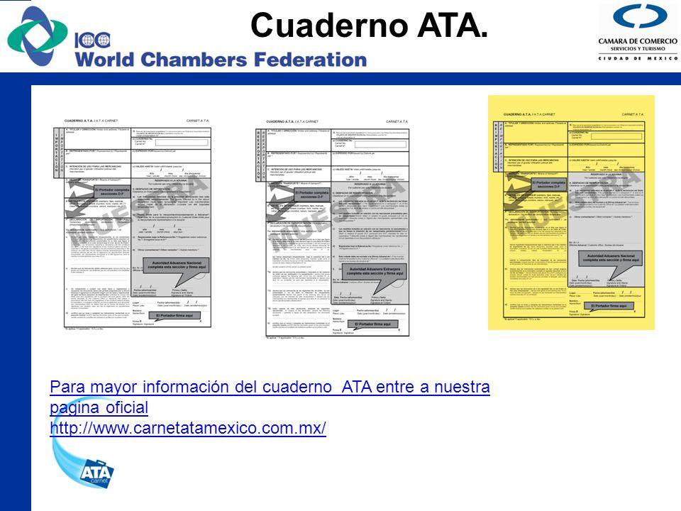 Cuaderno ATA. Para mayor información del cuaderno ATA entre a nuestra pagina oficial.