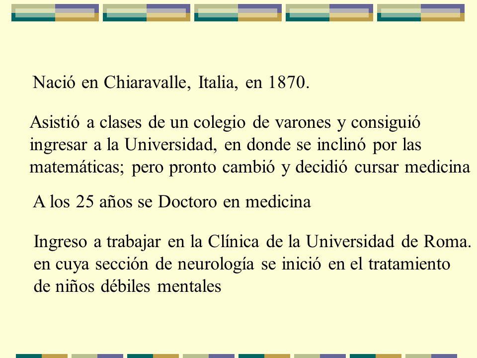 Nació en Chiaravalle, Italia, en 1870.