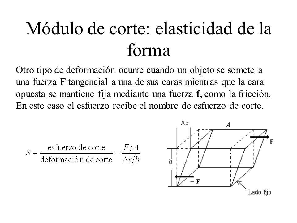 Módulo de corte: elasticidad de la forma