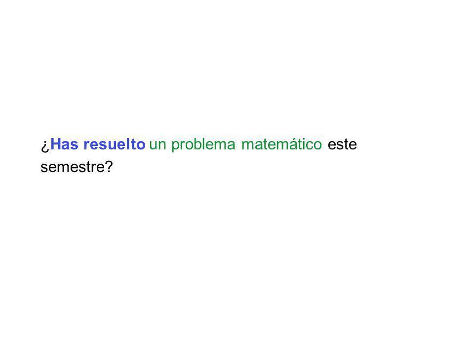 ¿Has resuelto un problema matemático este