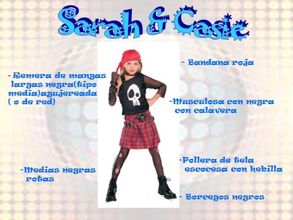 Sarah & Casie Remera de mangas - Bandana roja