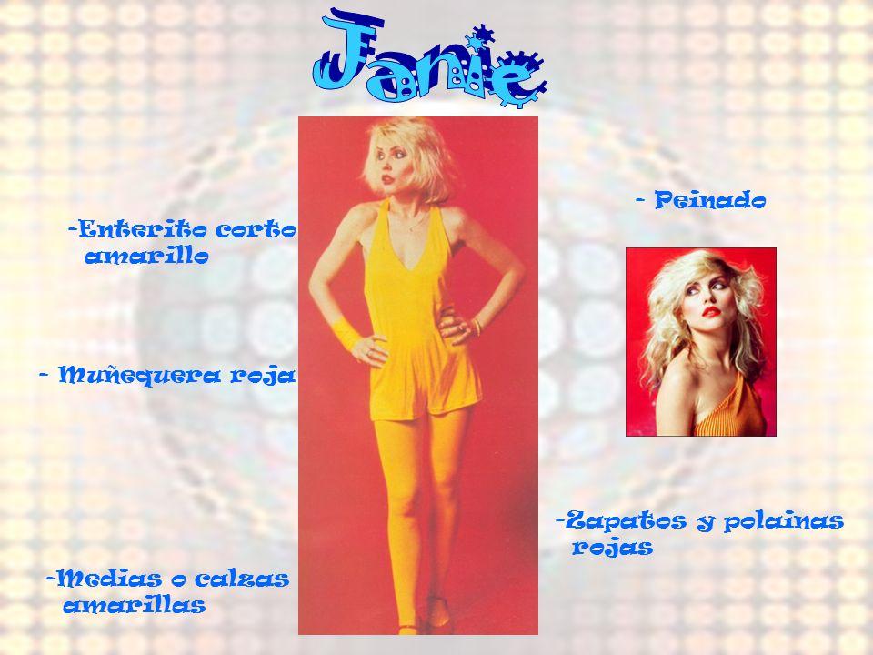 Janie Janie - Peinado Enterito corto amarillo - Muñequera roja