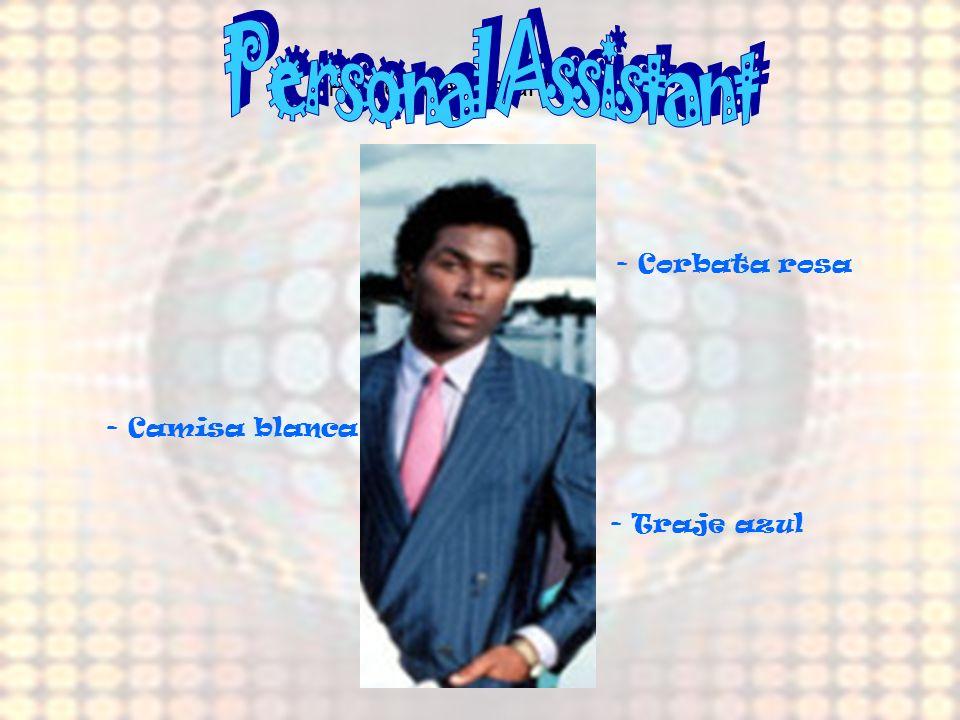 Personal Assistant Personal Assistant - Corbata rosa - Camisa blanca