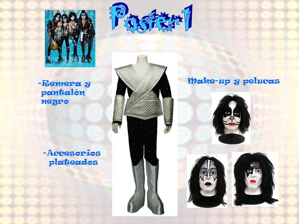 Poster 1 Make-up y pelucas -Remera y pantalón negro Accesorios