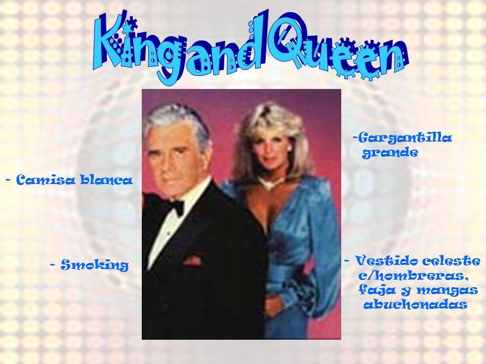 King and Queen Gargantilla grande - Camisa blanca Vestido celeste
