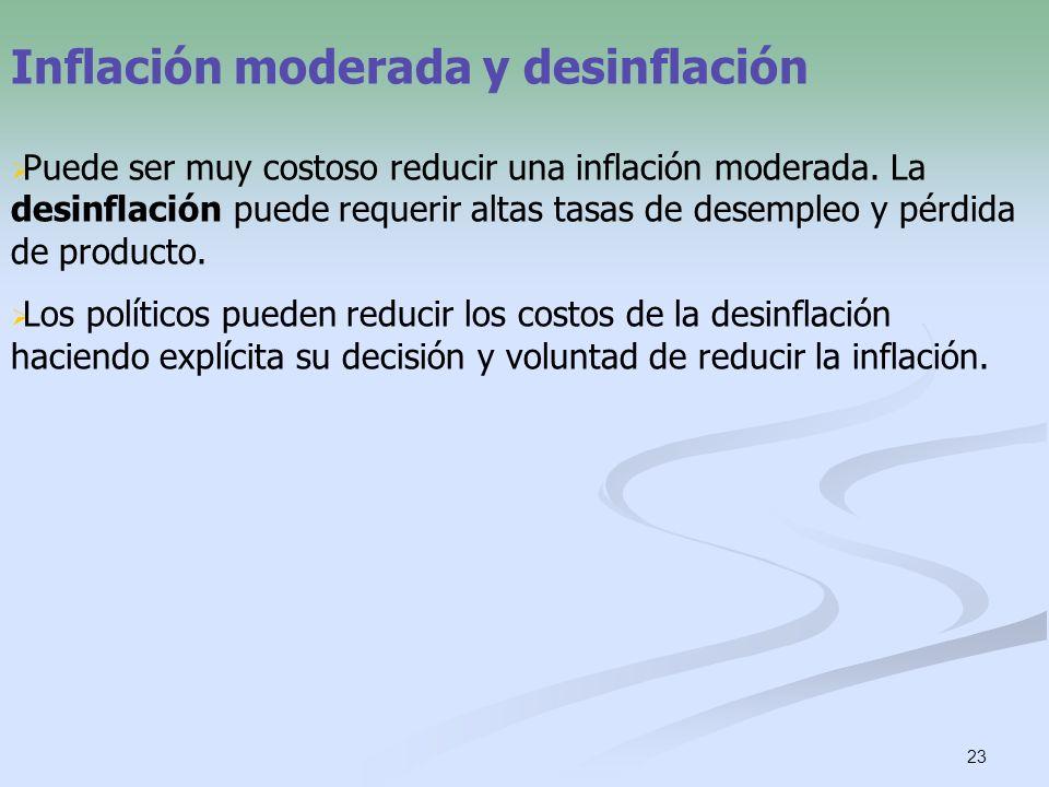 Inflación moderada y desinflación