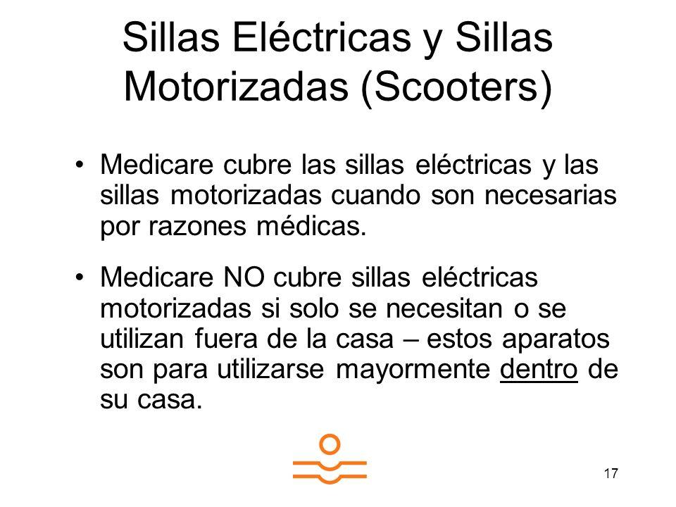 Sillas Eléctricas y Sillas Motorizadas (Scooters)