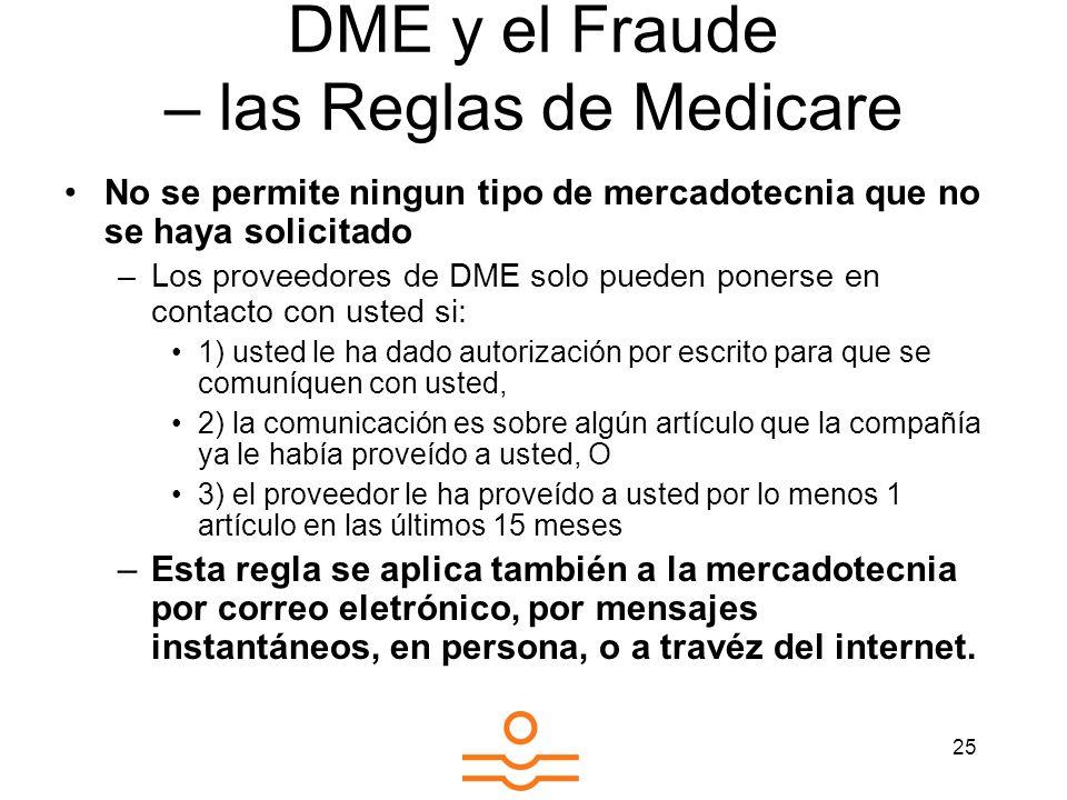 DME y el Fraude – las Reglas de Medicare