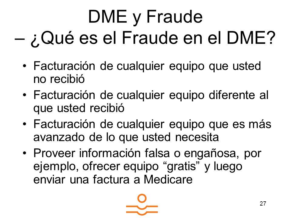 DME y Fraude – ¿Qué es el Fraude en el DME
