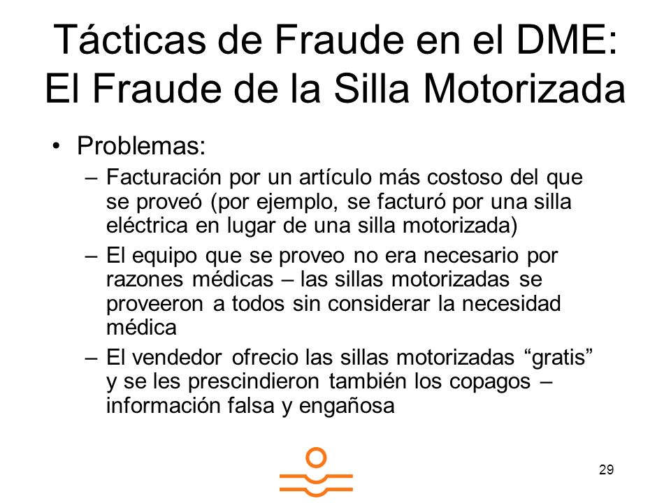 Tácticas de Fraude en el DME: El Fraude de la Silla Motorizada