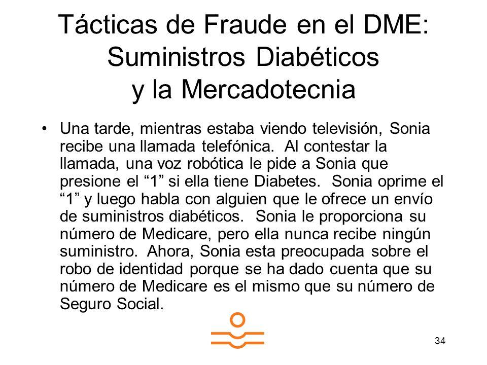 Tácticas de Fraude en el DME: Suministros Diabéticos y la Mercadotecnia