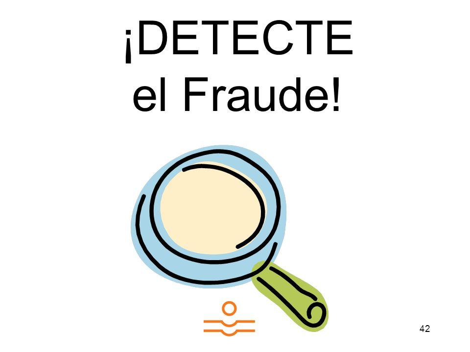 ¡DETECTE el Fraude!