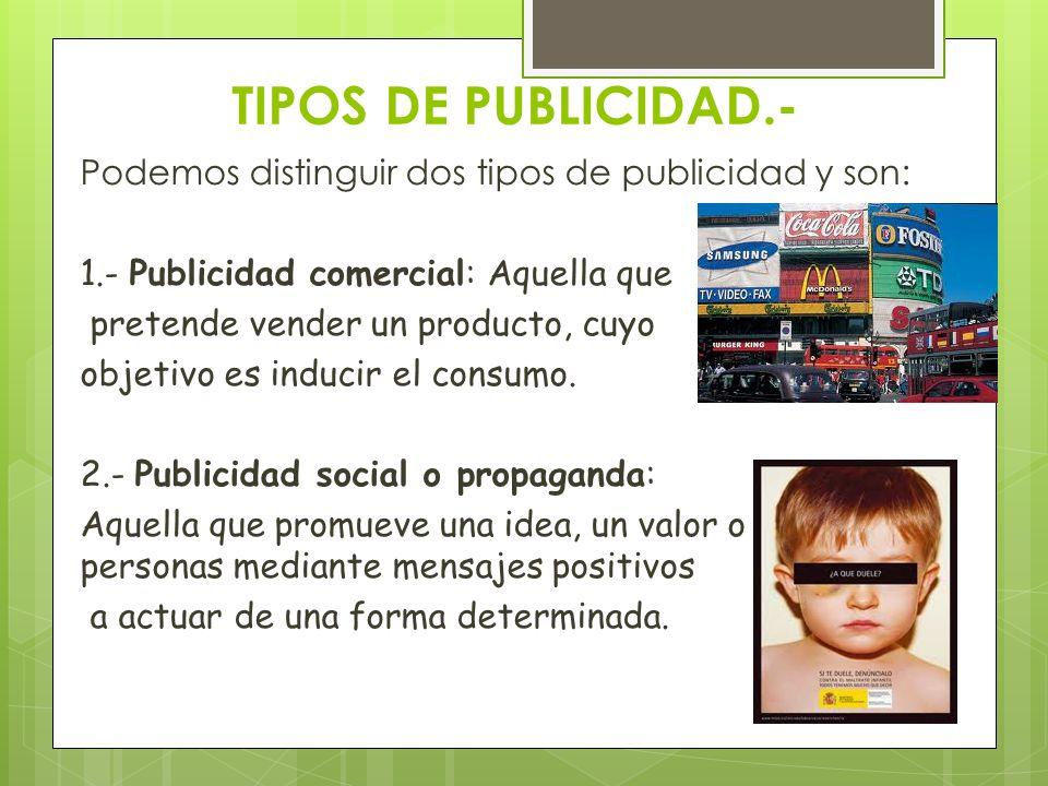 TIPOS DE PUBLICIDAD.-