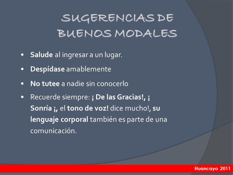 SUGERENCIAS DE BUENOS MODALES