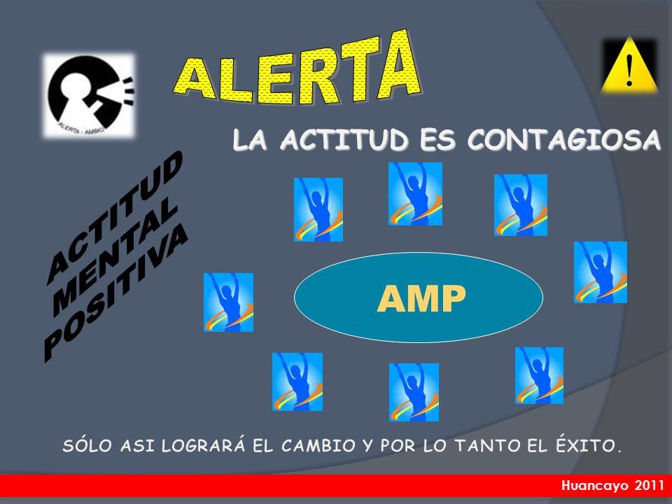 AMP ALERTA ACTITUD MENTAL POSITIVA LA ACTITUD ES CONTAGIOSA