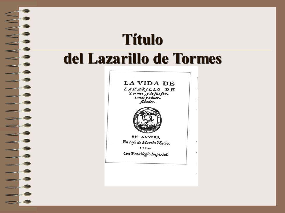 del Lazarillo de Tormes