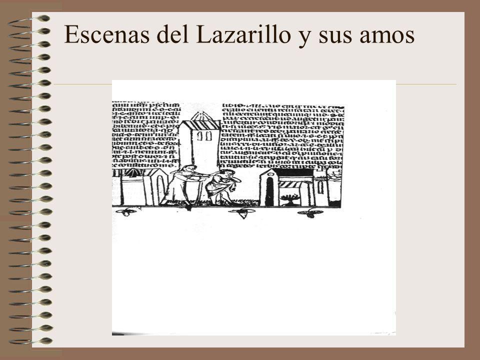 Escenas del Lazarillo y sus amos