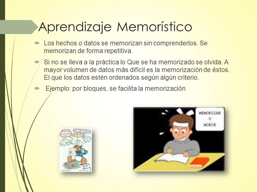 Aprendizaje Memorístico