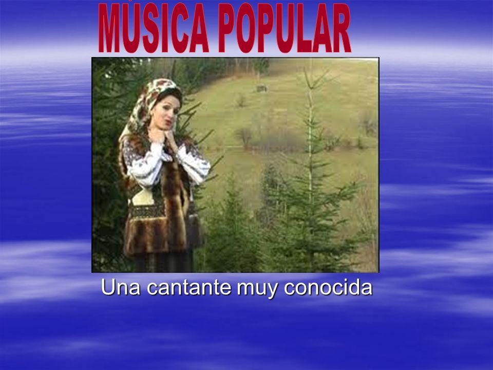 MÚSICA POPULAR Una cantante muy conocida