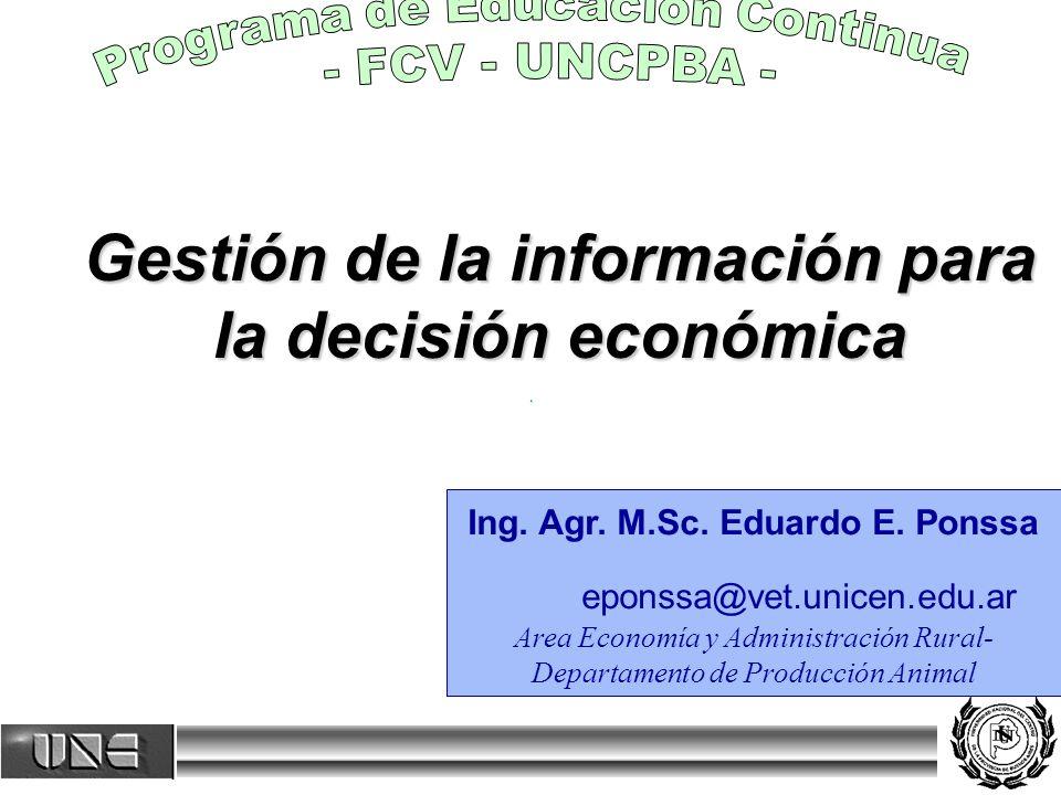 Gestión de la información para la decisión económica