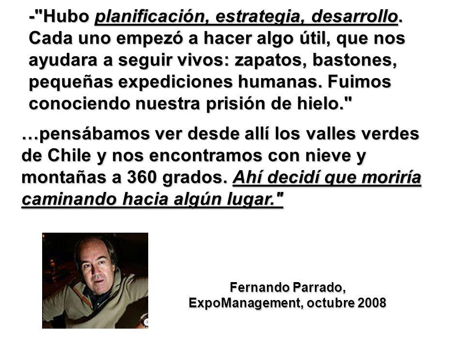 Fernando Parrado, ExpoManagement, octubre 2008
