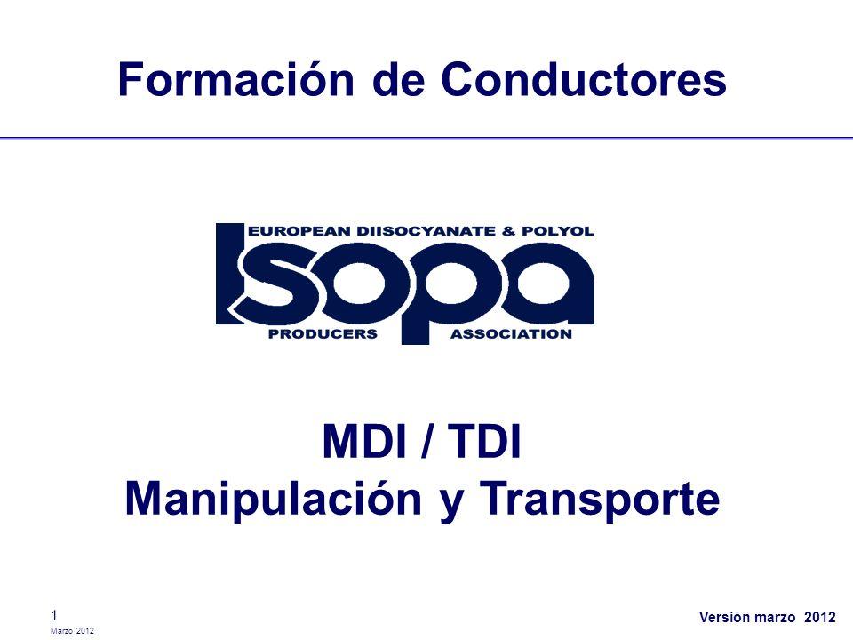 Formación de Conductores MDI / TDI Manipulación y Transporte