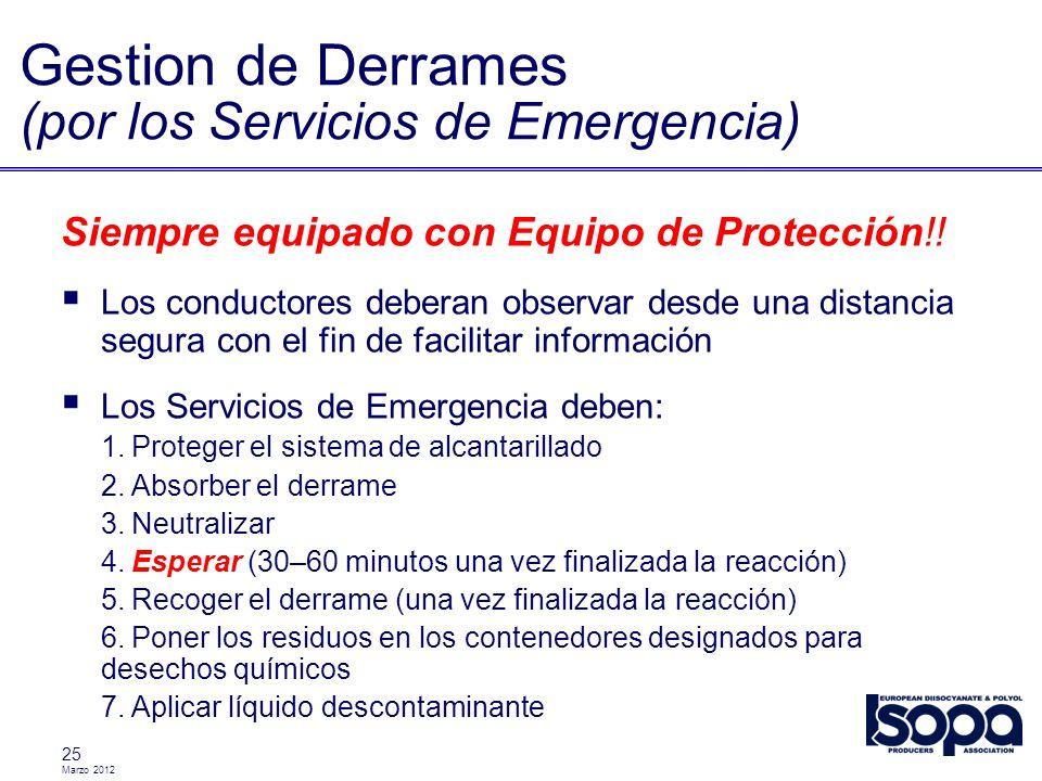 Gestion de Derrames (por los Servicios de Emergencia)