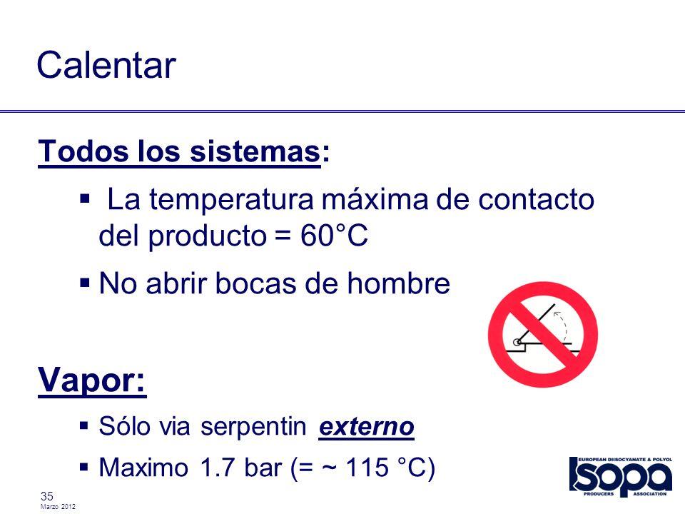 Calentar Vapor: Todos los sistemas: