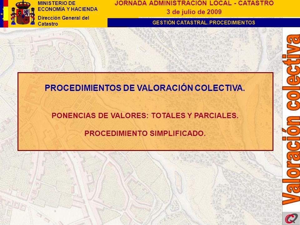 PROCEDIMIENTOS DE VALORACIÓN COLECTIVA