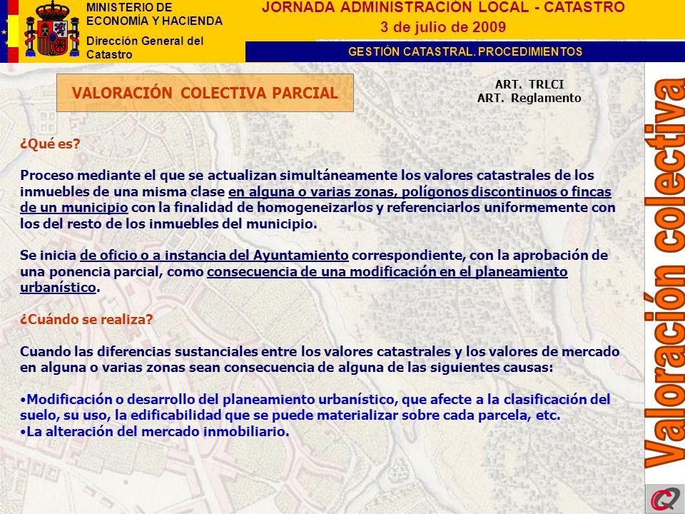 VALORACIÓN COLECTIVA PARCIAL