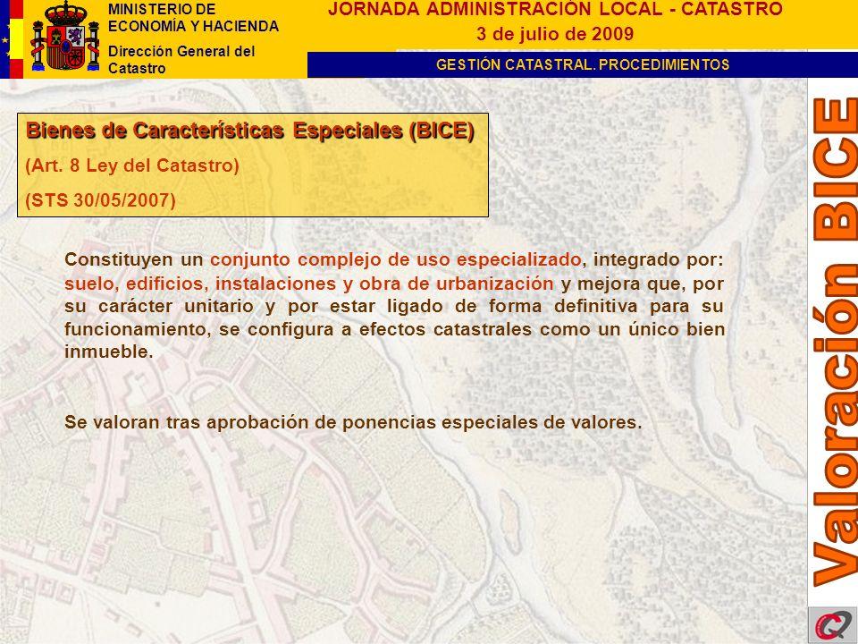 Valoración BICE Bienes de Características Especiales (BICE)