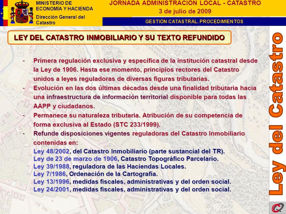 LEY DEL CATASTRO INMOBILIARIO Y SU TEXTO REFUNDIDO