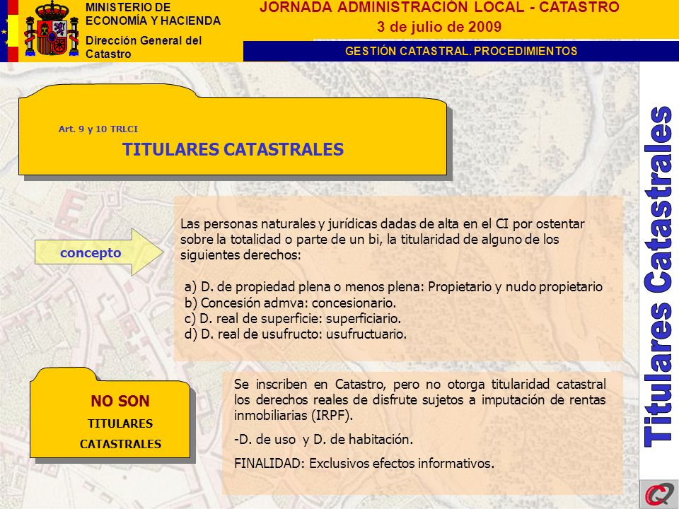 TITULARES CATASTRALES