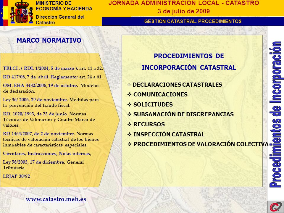 INCORPORACIÓN CATASTRAL