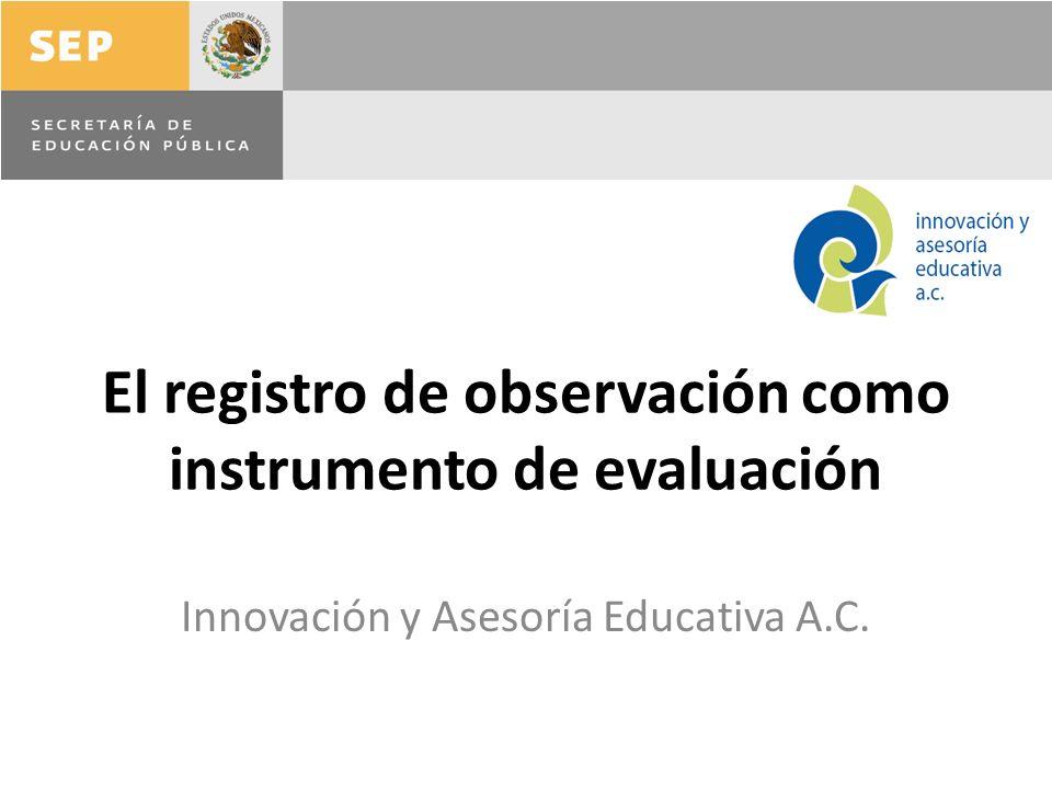 El registro de observación como instrumento de evaluación