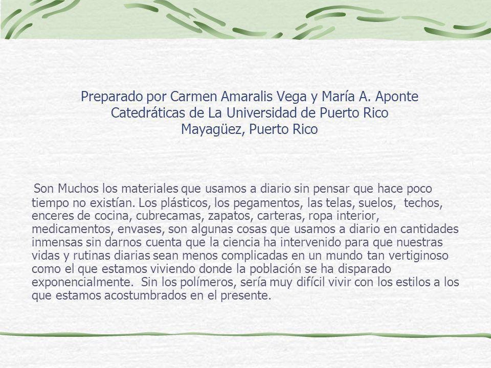 Preparado por Carmen Amaralis Vega y María A