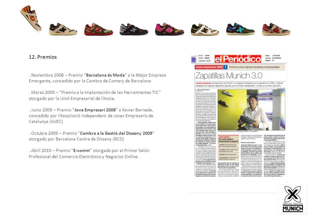 12. Premios . Noviembre 2008 – Premio Barcelona és Moda a la Mejor Empresa Emergente, concedido por la Cambra de Comerç de Barcelona.