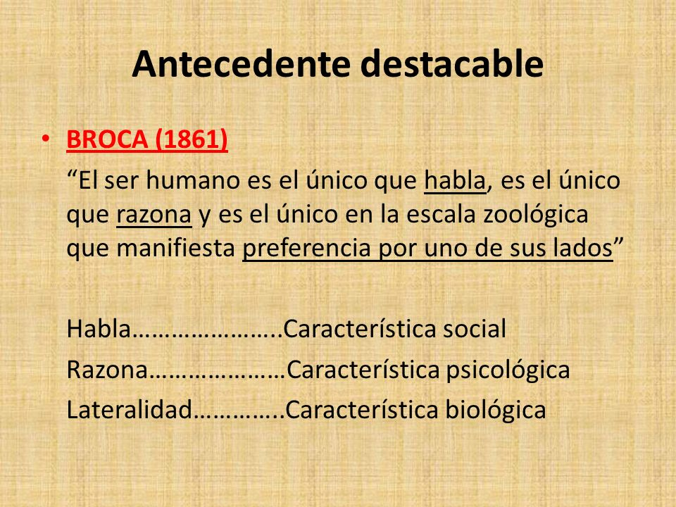 Antecedente destacable