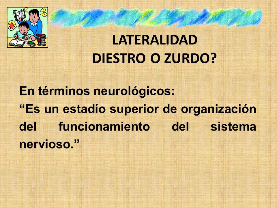 LATERALIDAD DIESTRO O ZURDO