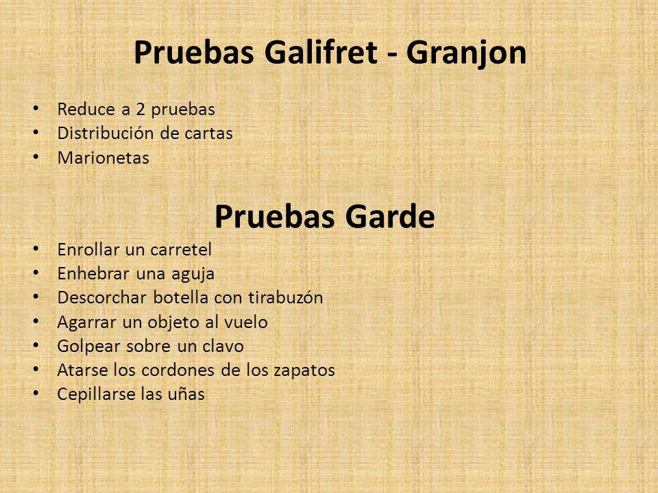 Pruebas Galifret - Granjon