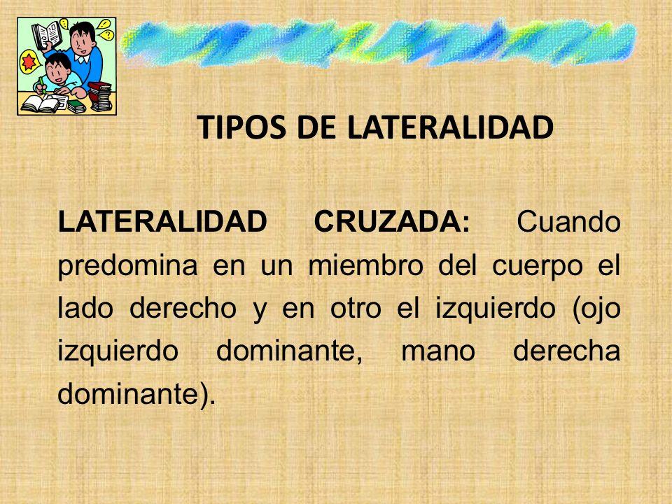 TIPOS DE LATERALIDAD