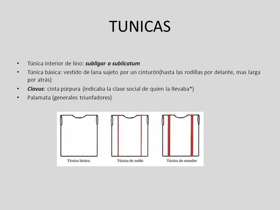 TUNICAS Túnica interior de lino: subligar o sublicatum