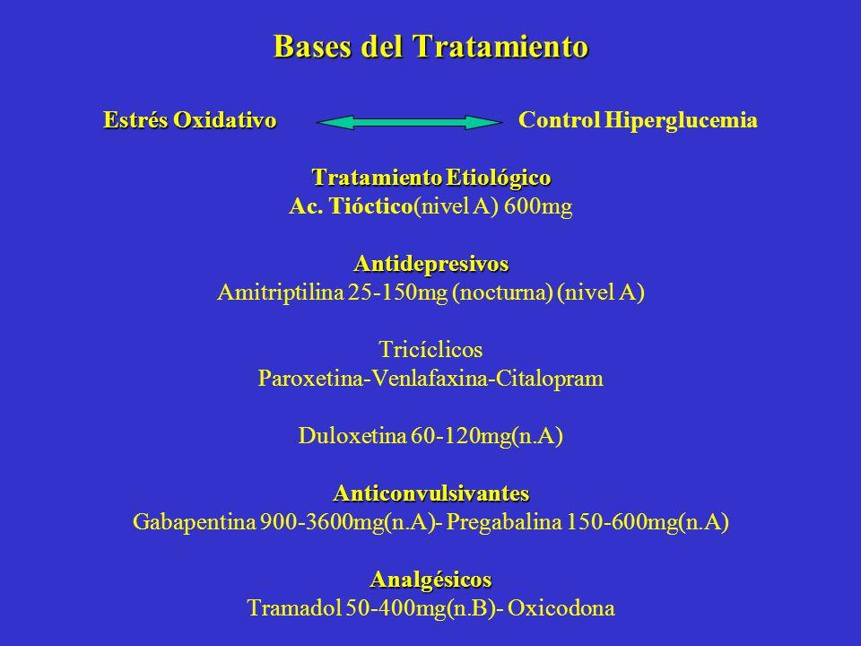 Bases del Tratamiento Estrés Oxidativo Control Hiperglucemia Tratamiento Etiológico Ac.
