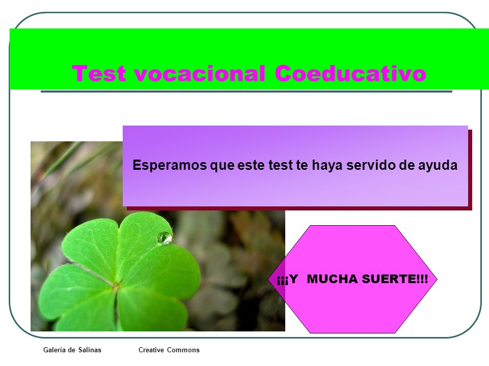 Test vocacional Coeducativo