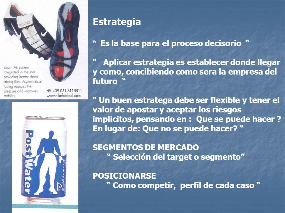 Estrategia Es la base para el proceso decisorio